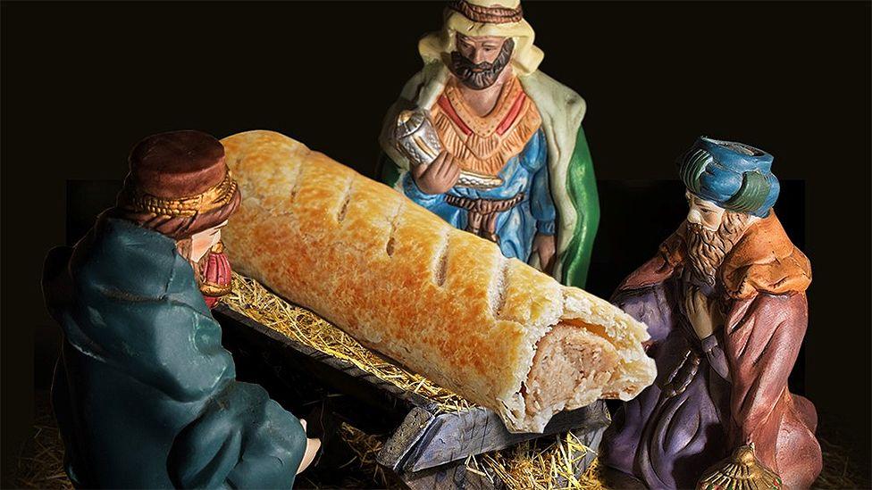Greggs sausage roll nativity