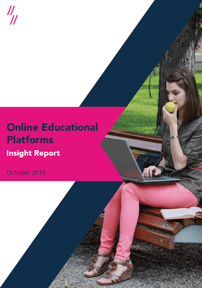 2019 Online Education Market Report front cover