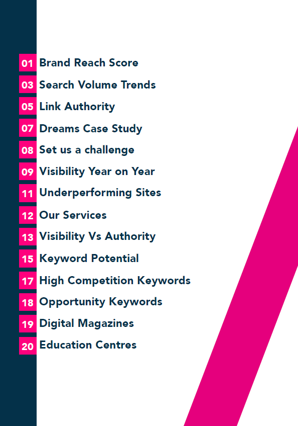 2019 Jewellery Market Report contents page