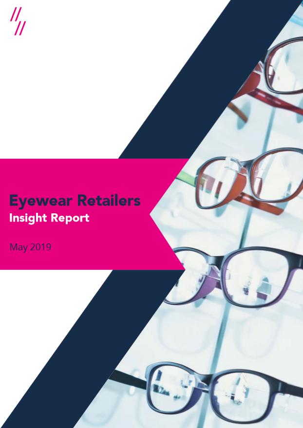 2019 Eyewear Market Report front cover