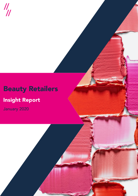 Beauty retailers market performance report cover