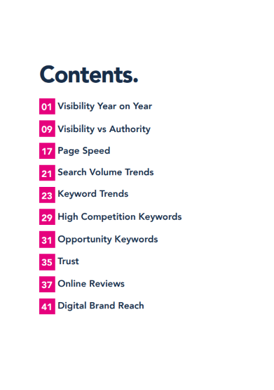 LED & Lighting Industry Report 2021 contents page
