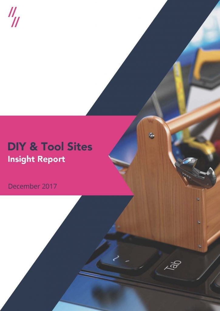 DIY and tool sites insight report cover
