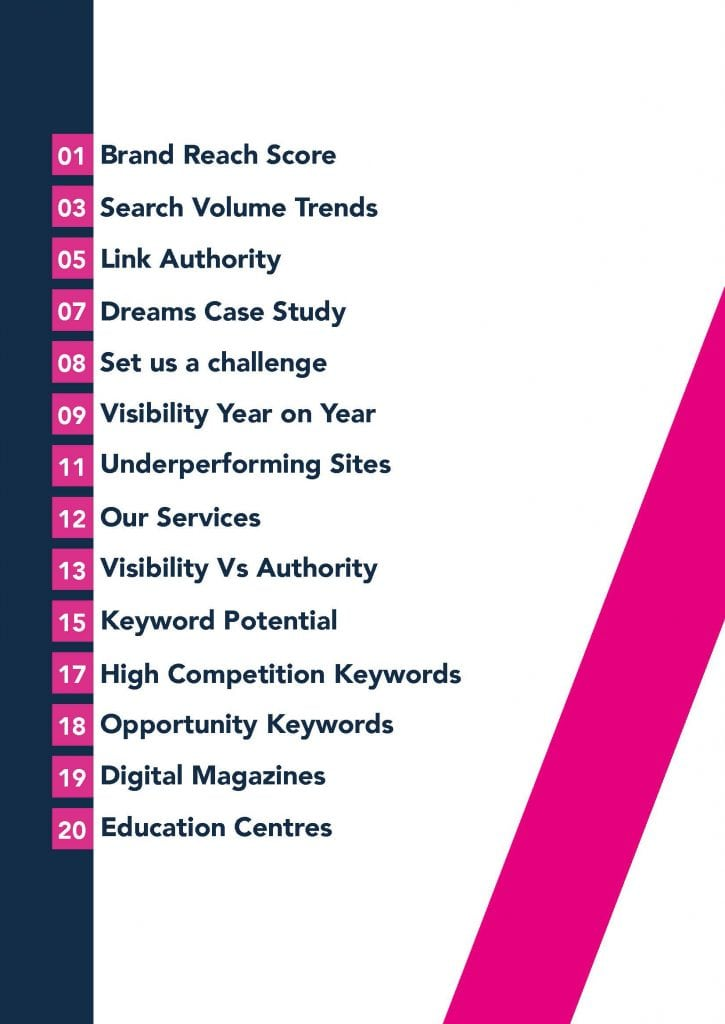 2019 Eyewear Market Report contents page