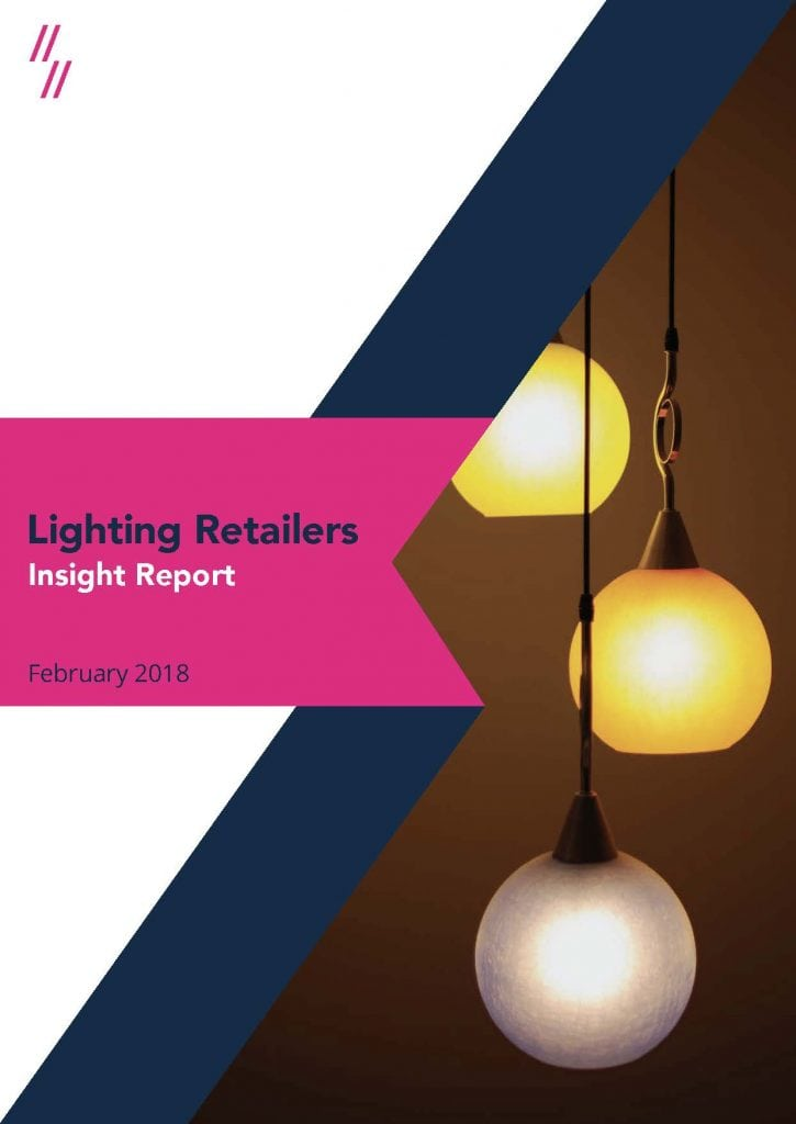 Online lighting retailers market performance report cover