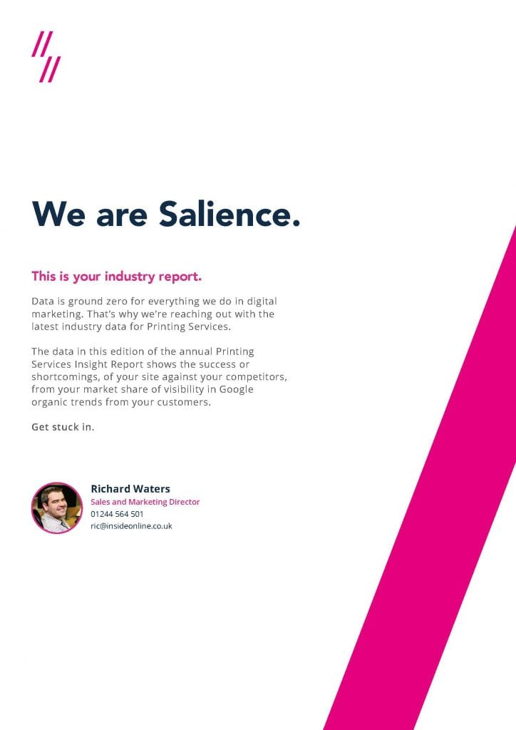 Printing Industry Report intro page