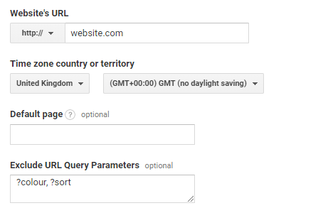 URL query parameters in google analytics