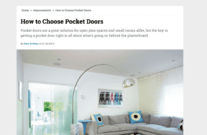 How to choose pocket doors