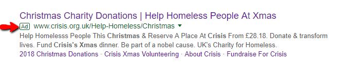 Charity Google Ad