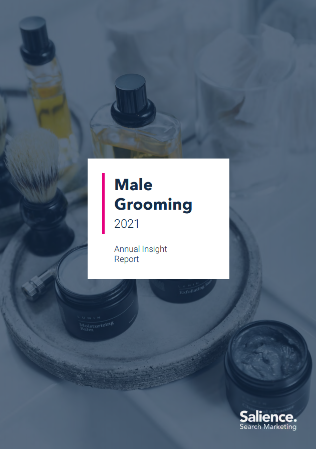 2021 Male Grooming Report Front Cover